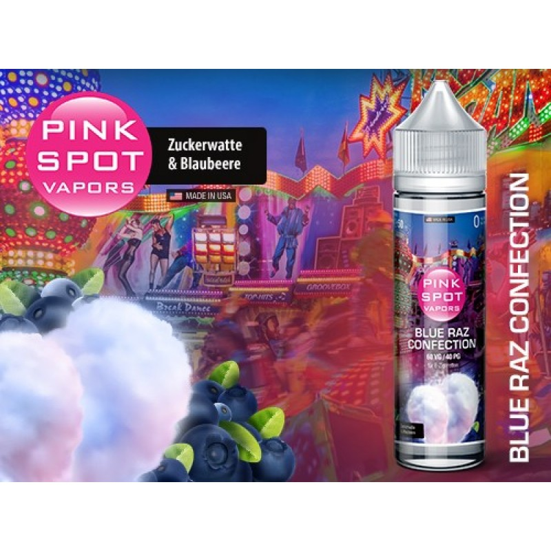 Shake and Vape Pink Spot - Blue Raz Confection 50ml 60VG / 40PG